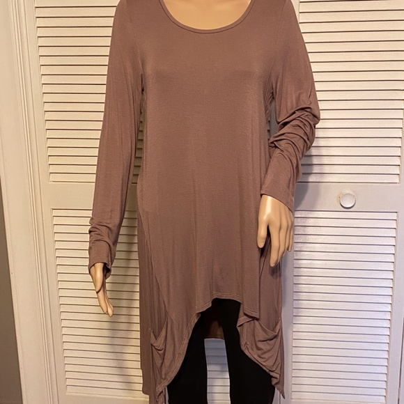 LOGO by Lori Goldstein Dusty Mauve Tunic Med/Large